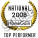 "HomeGain National Performer"" is the highest ranked agent nationwide."